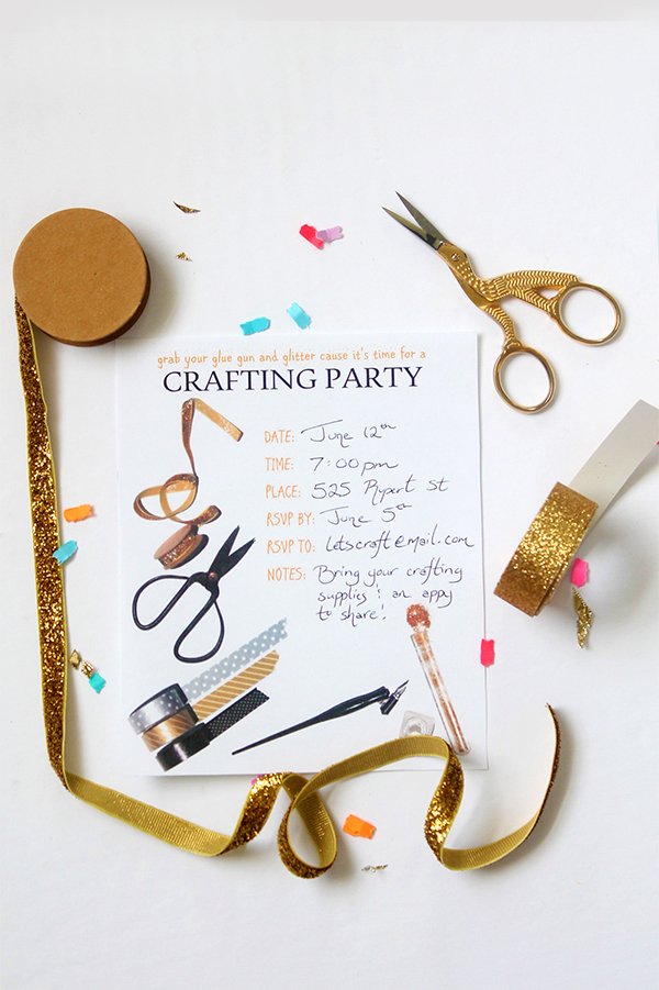 Print | Craft Party Invitation Printable - Squirrelly Minds