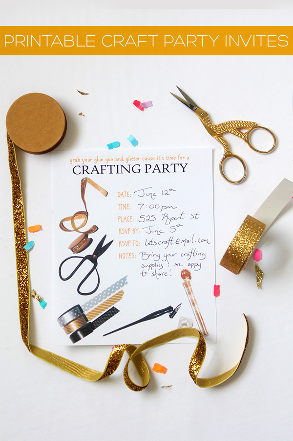 Printable Craft Party Invitation | Squirrelly Minds