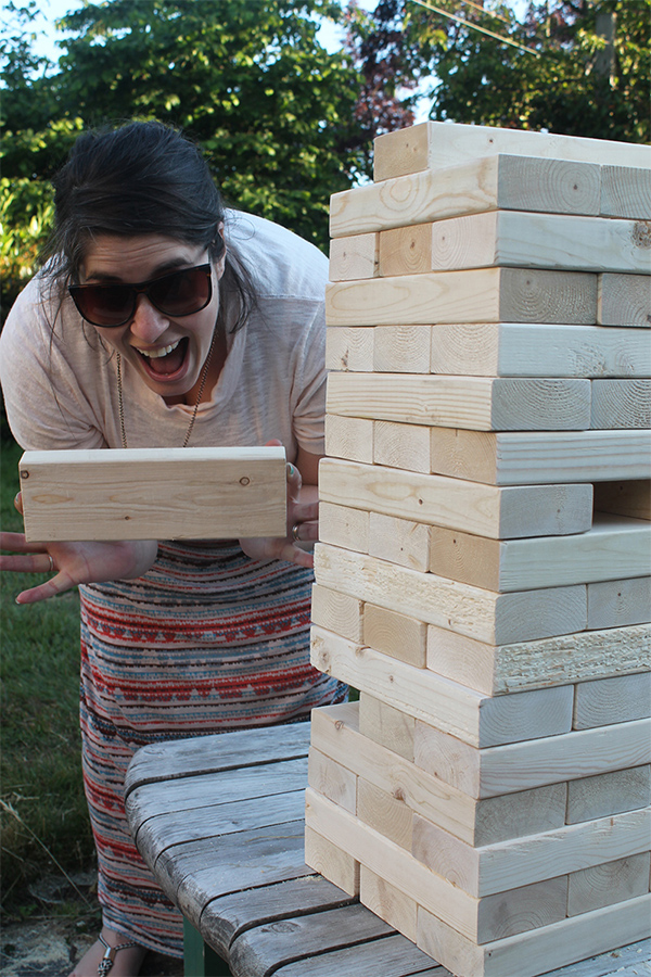 Giant Jenga DIY | Squirrelly Minds