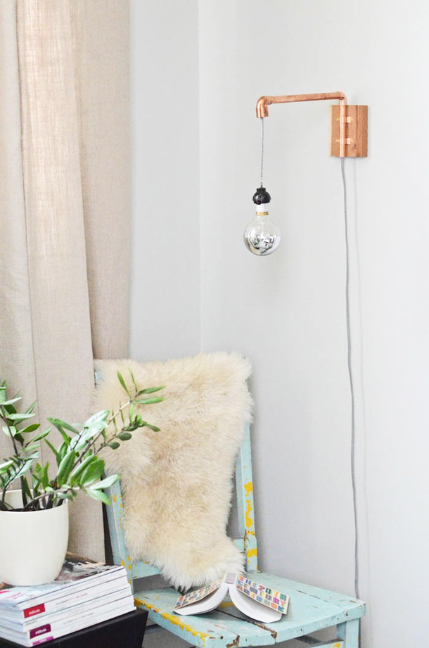 Top 10 Copper Pipe DIY's - Photo by Camille Styles   Squirrelly Minds
