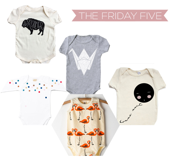 The Friday Five - Adorable Onesies | Squirrelly Minds