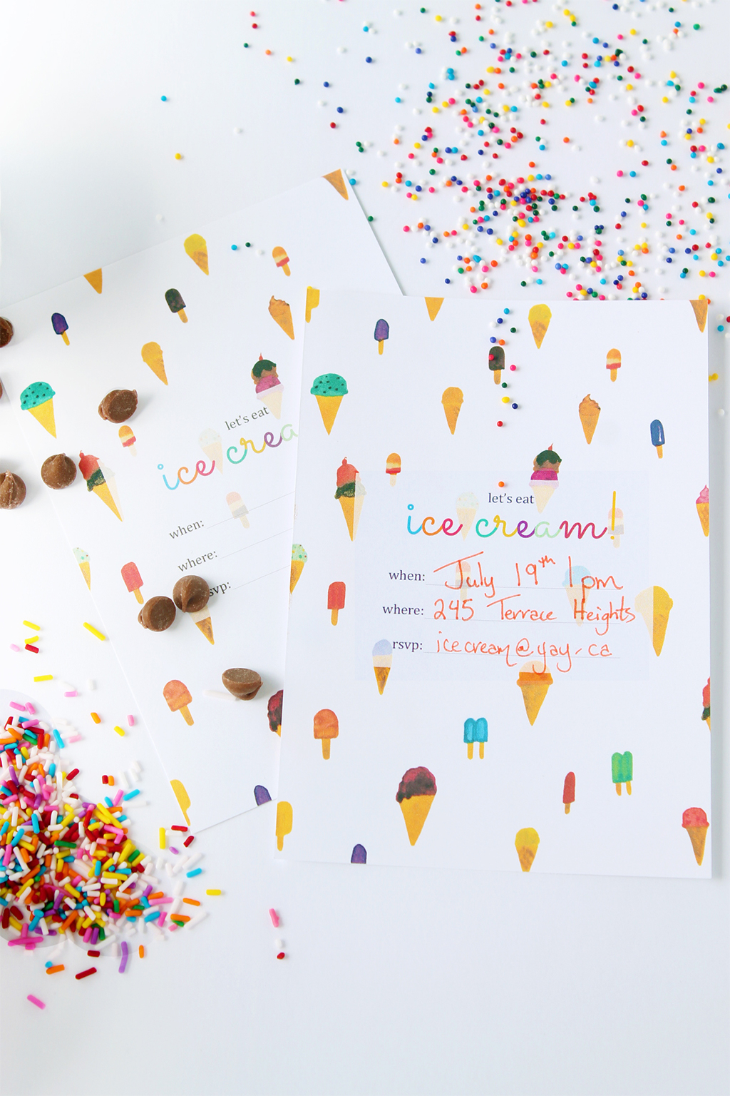 Print – Ice Cream Party Invitation