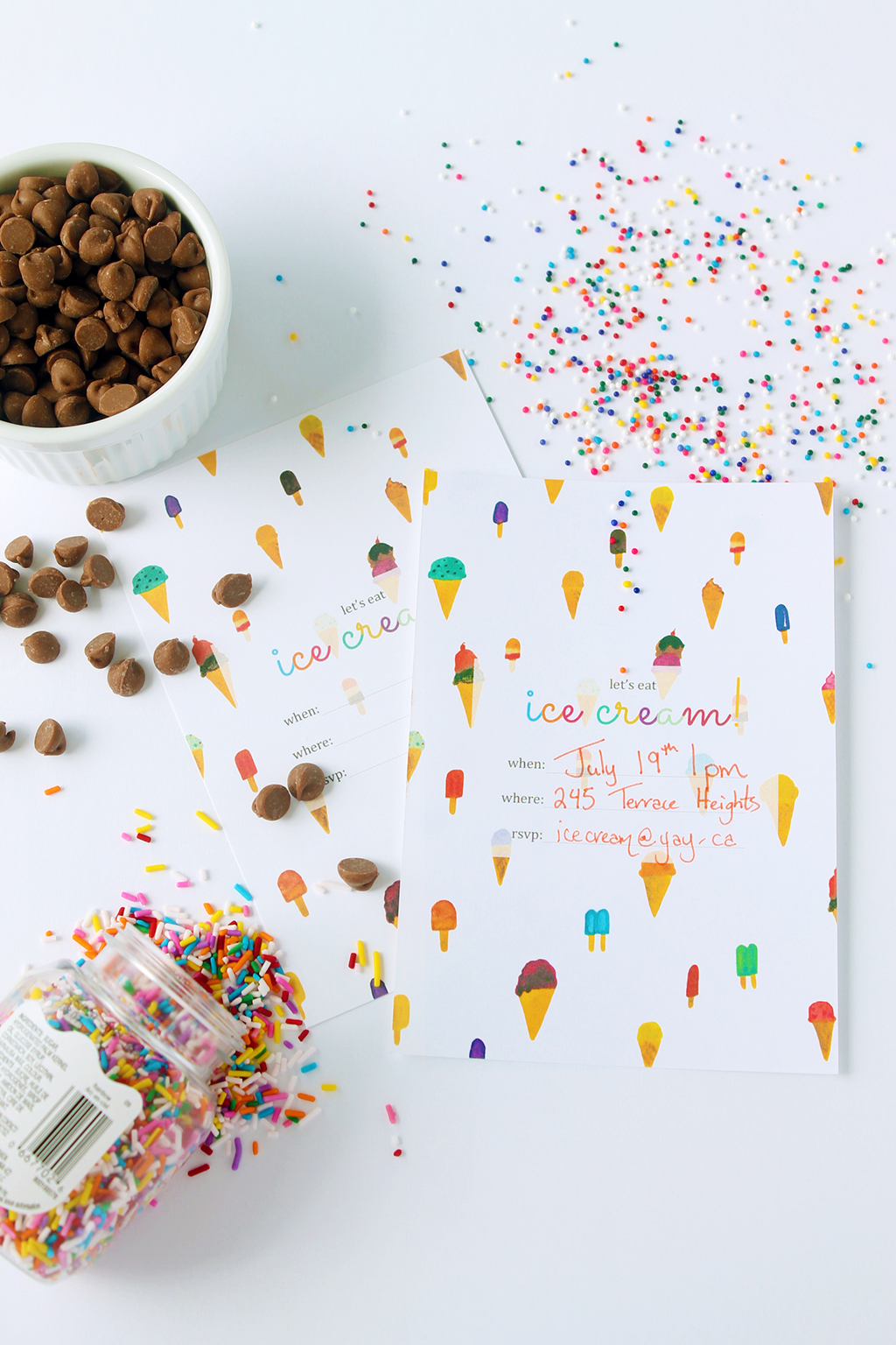 Printable Ice Cream Party Invitation| Squirrelly Minds