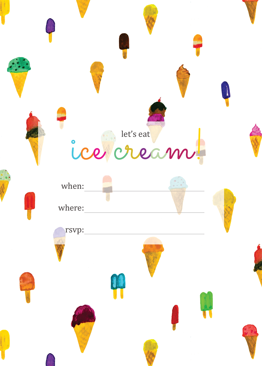Print – Ice Cream Party Invites