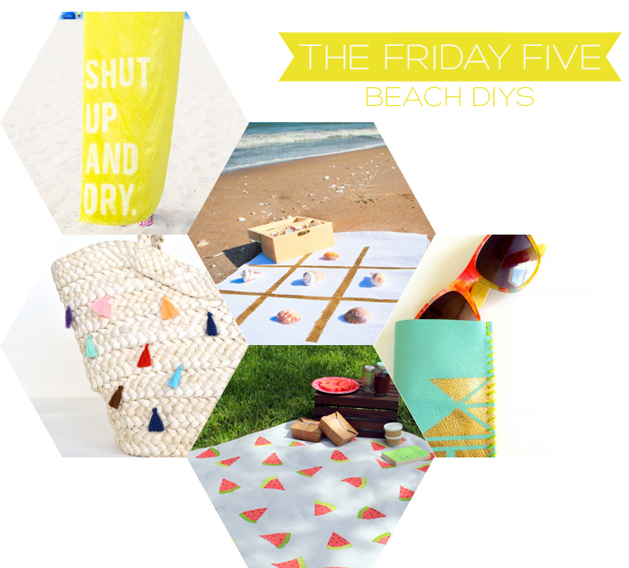 The Friday Five - Beach DIY's | Squirrelly Minds