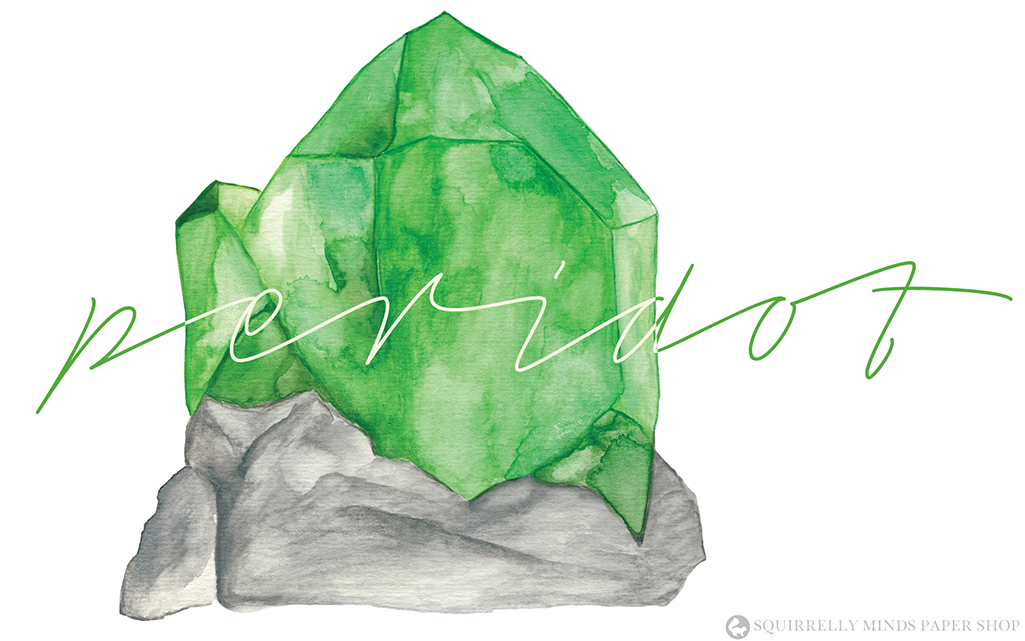 Free Watercolour Peridot Desktop Wallpaper | Squirrelly Minds