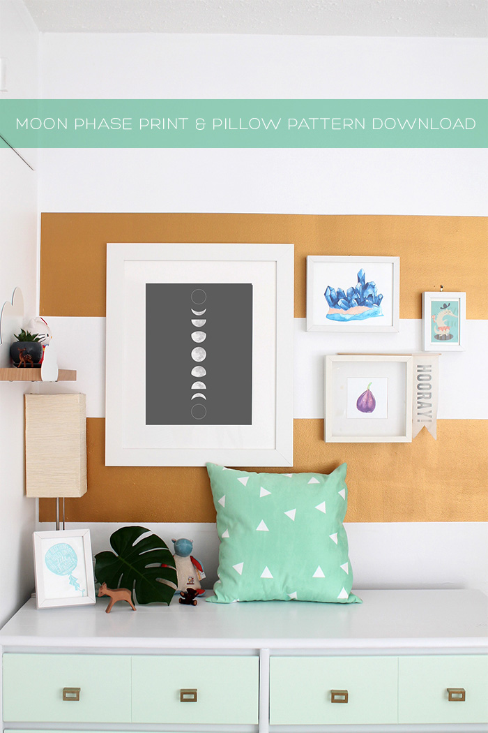 Moon Phase Art & Triangle Pattern Download + Tutorial | Squirrelly Minds