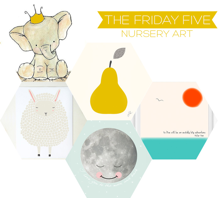 The Friday Five - Nursery Art | Squirrelly Minds