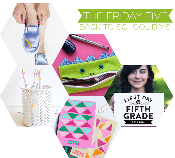 The Friday Five - Back to School DIY's | Squirrelly Minds