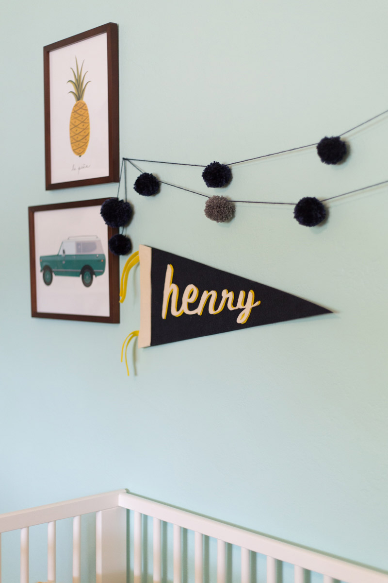 DIY Pom Pom Garland by Chelsea Foy of Lovely Indeed | Squirrelly Minds