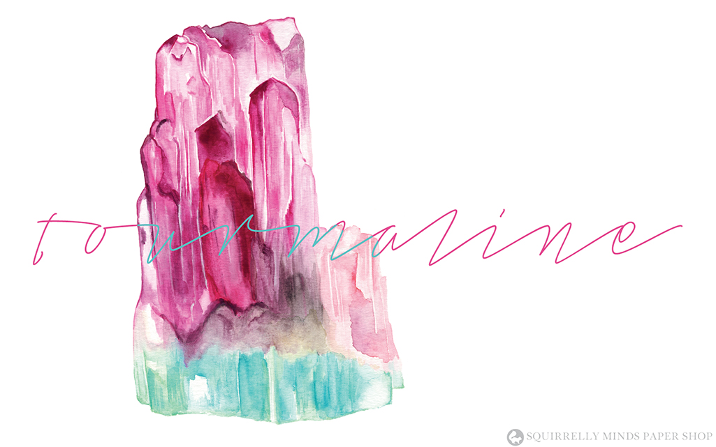Free Watercolour Tourmaline Desktop Wallpaper | Squirrelly Minds