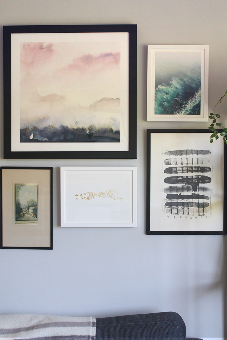 Living Room Gallery Wall | Squirrelly Minds