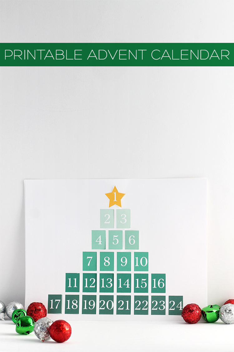 Printable Advent Calendar | Squirrelly Minds