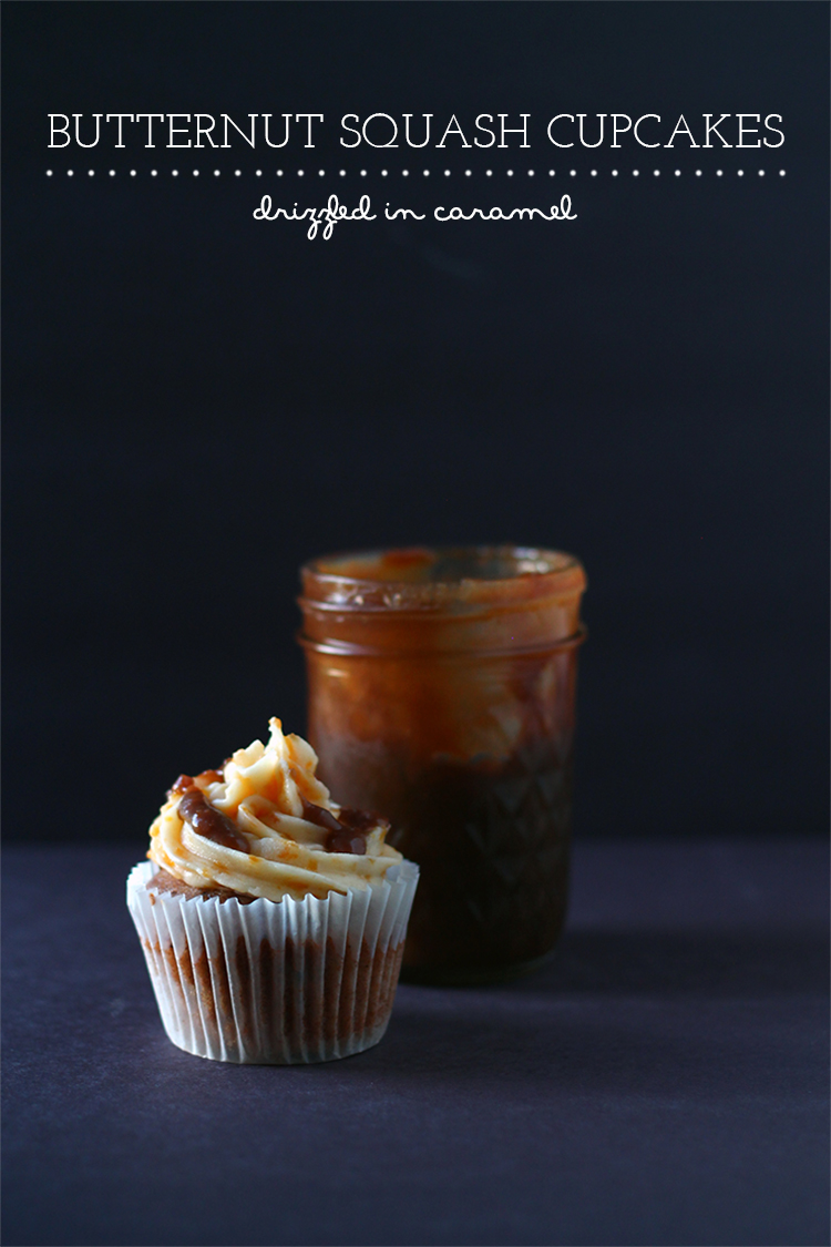 Butternut Squash Cupcakes from Squirrelly Minds