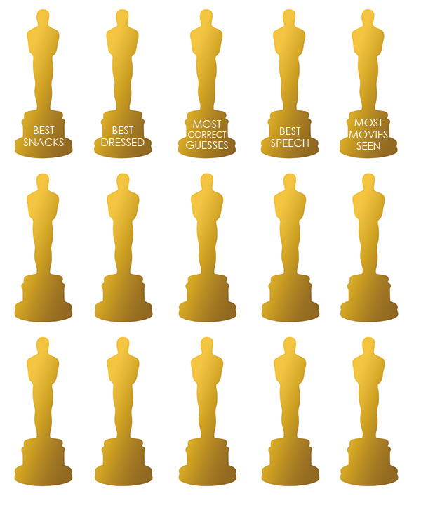Print   Oscar Party Tattoos - Squirrelly Minds
